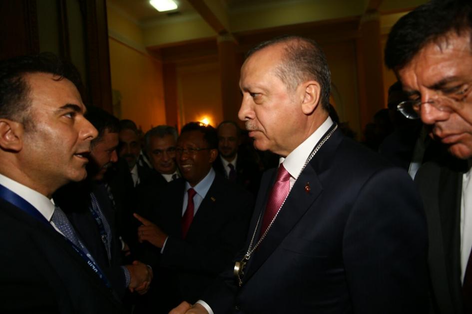 battal holding yönetim kurulu başkanı mehmet berat battal ve cumhurbaskani recep tayyip erdogan is forumlari gezisi turk ilac ve serum sanayi